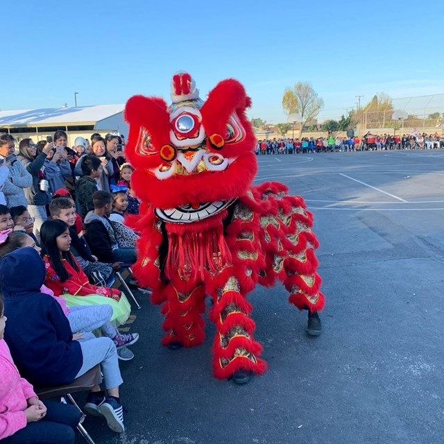 Lunar New Year Lion Dancer