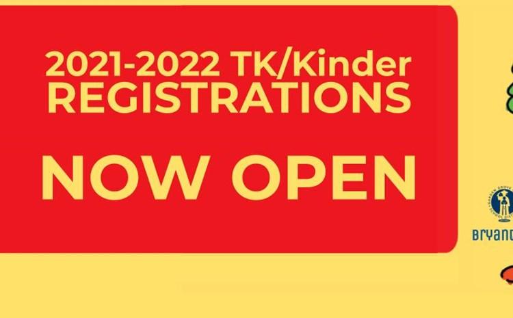 2021-2022 TK/Kinder Registrations -NOW OPEN- - article thumnail image